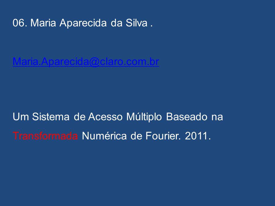 05. Rafael Menezes Cardim. mcbrafael@gmail.com Construção de Códigos de Bloco Lineares MDS via Transformadas Trigonométricas Digitais. 2012