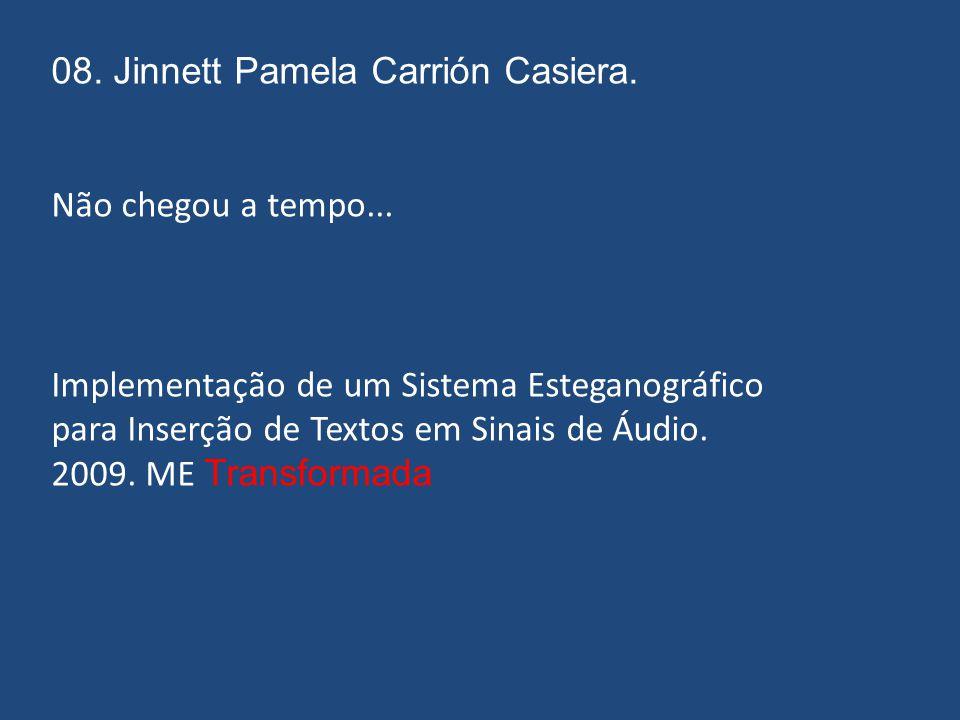 07. Eduarda Simões Veloso Freire. eduarda_freire@yahoo.com.br Construção de Códigos de Bloco Lineares via Transformadas Digitais. 2009. ME