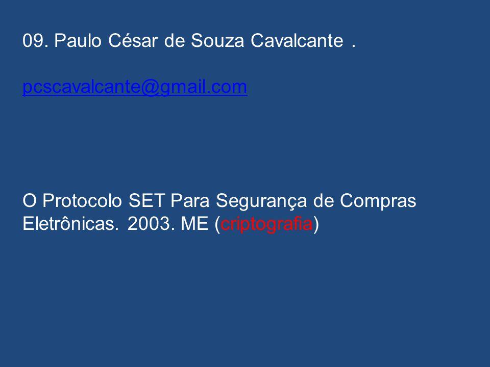 08. Jinnett Pamela Carrión Casiera. Não chegou a tempo... Implementação de um Sistema Esteganográfico para Inserção de Textos em Sinais de Áudio. 2009