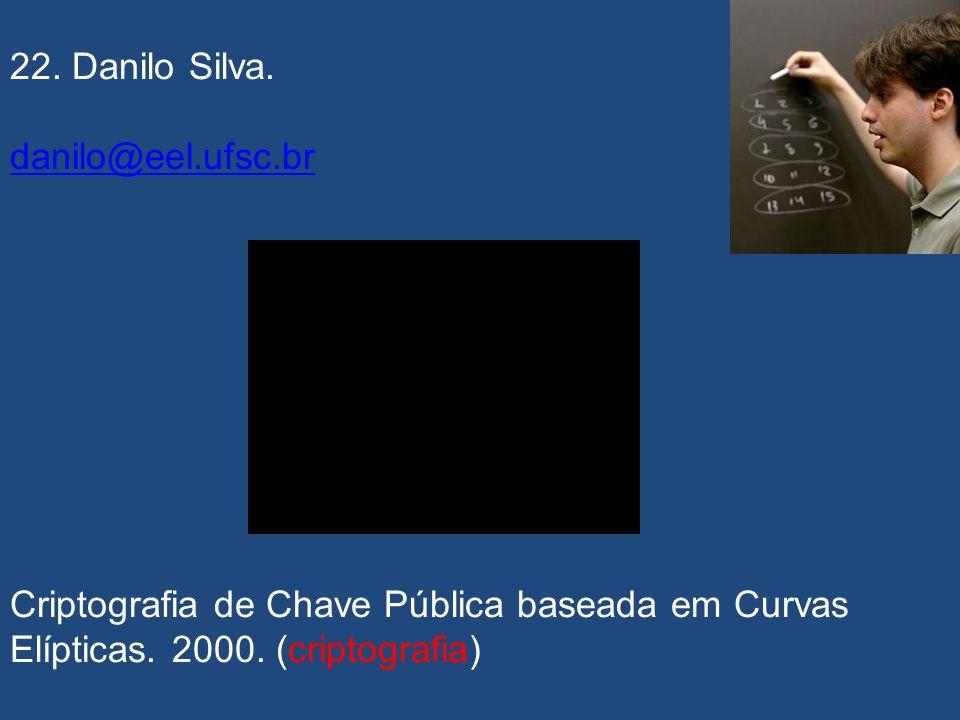 21. Geraldo Frazão de Aquino Júnior. Codificação de Canal Através da Transformada de Fourier de Campo Finito. 1990