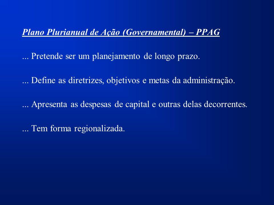 Plano Plurianual de Ação (Governamental) – PPAG...