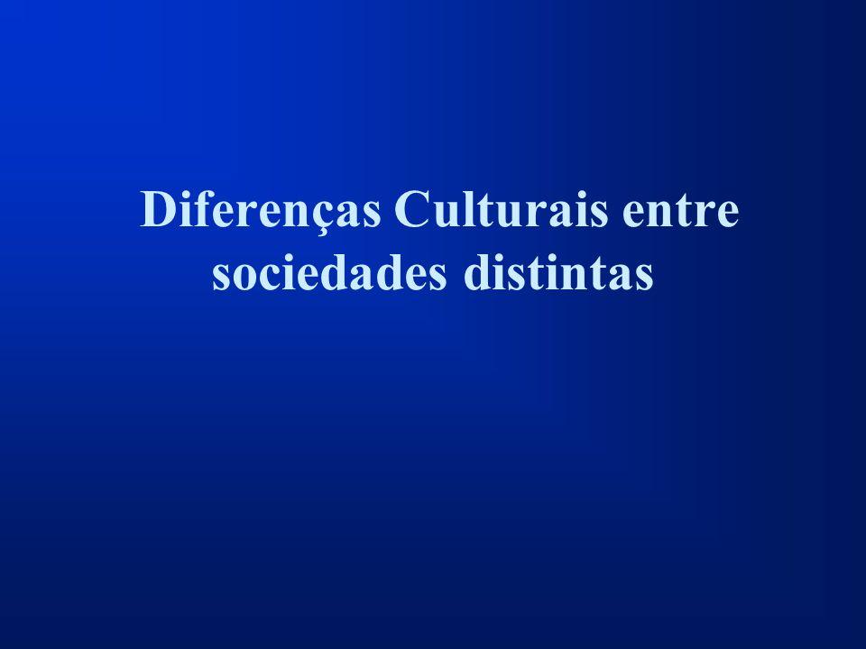 Diferenças Culturais entre sociedades distintas