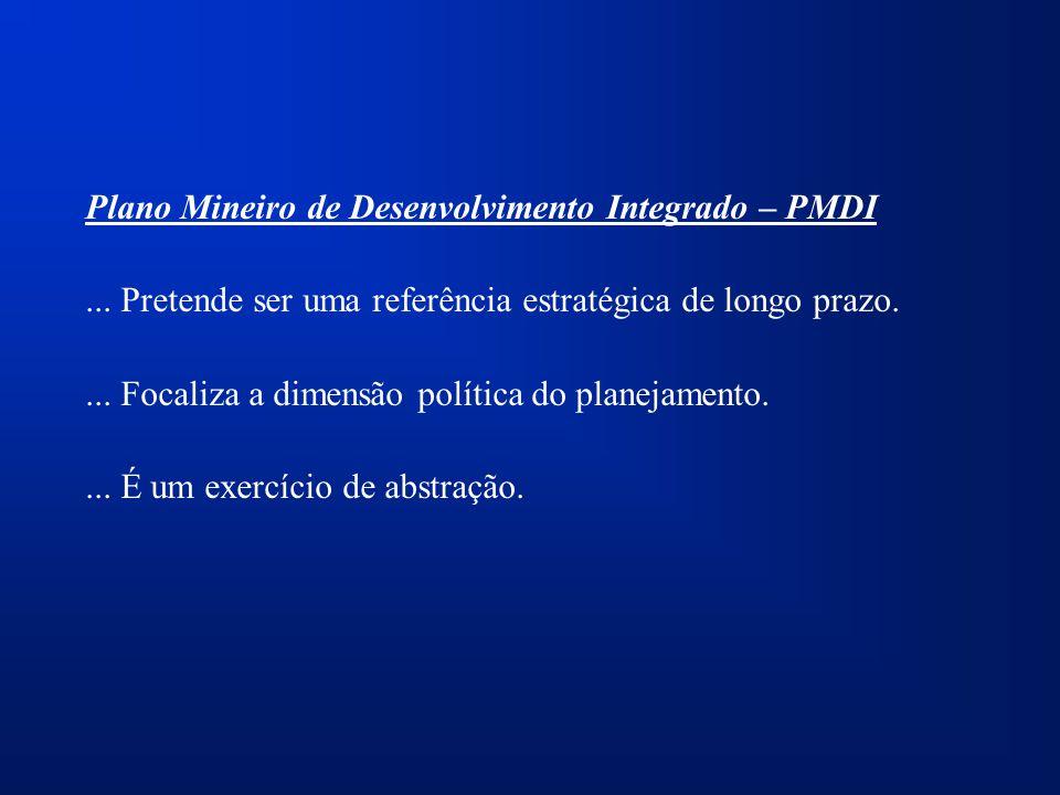 Plano Mineiro de Desenvolvimento Integrado – PMDI...