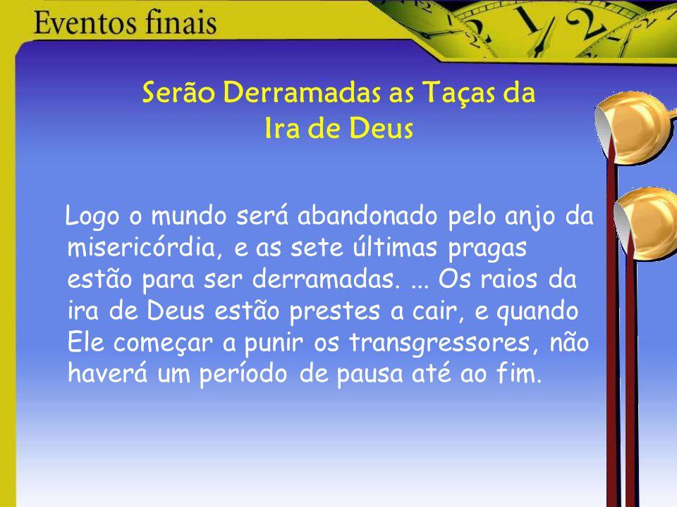 Apocalipse 7:1-3 Quatro poderosos anjos detêm os poderes da Terra até que os servos de Deus sejam selados na fronte.