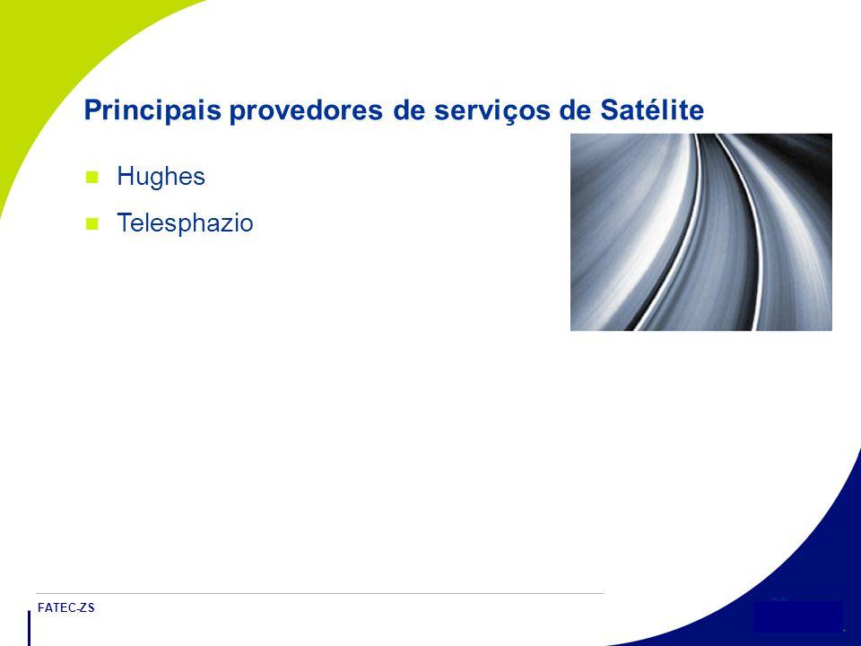 FATEC-ZS 28 Principais provedores de serviços de Satélite Hughes Telesphazio