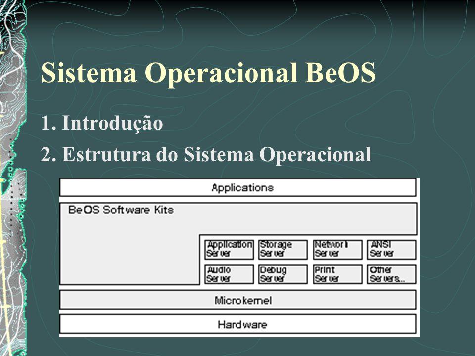 Sistema Operacional BeOS 1. Introdução 2. Estrutura do Sistema Operacional