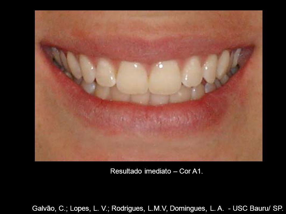 Galvão, C.; Lopes, L. V.; Rodrigues, L.M.V, Domingues, L. A. - USC Bauru/ SP. Resultado imediato – Cor A1.
