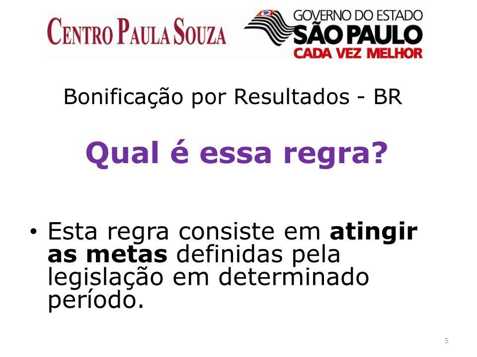 5 Bonificação por Resultados - BR Qual é essa regra? Esta regra consiste em atingir as metas definidas pela legislação em determinado período.