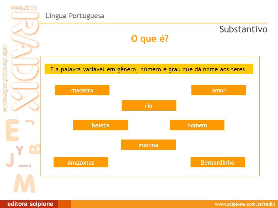 Língua Portuguesa www.scipione.com.br/radix O que é.