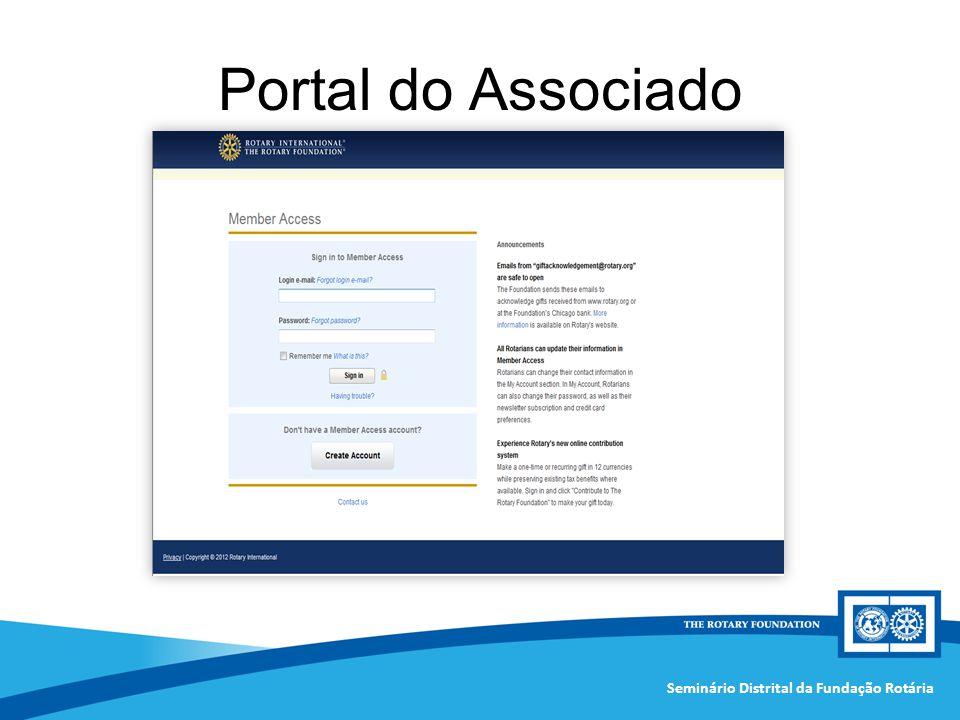 Seminário Distrital da Fundação Rotária Portal do Associado