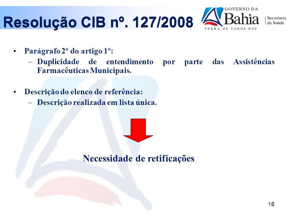 16 Parágrafo 2º do artigo 1º: –Duplicidade de entendimento por parte das Assistências Farmacêuticas Municipais.