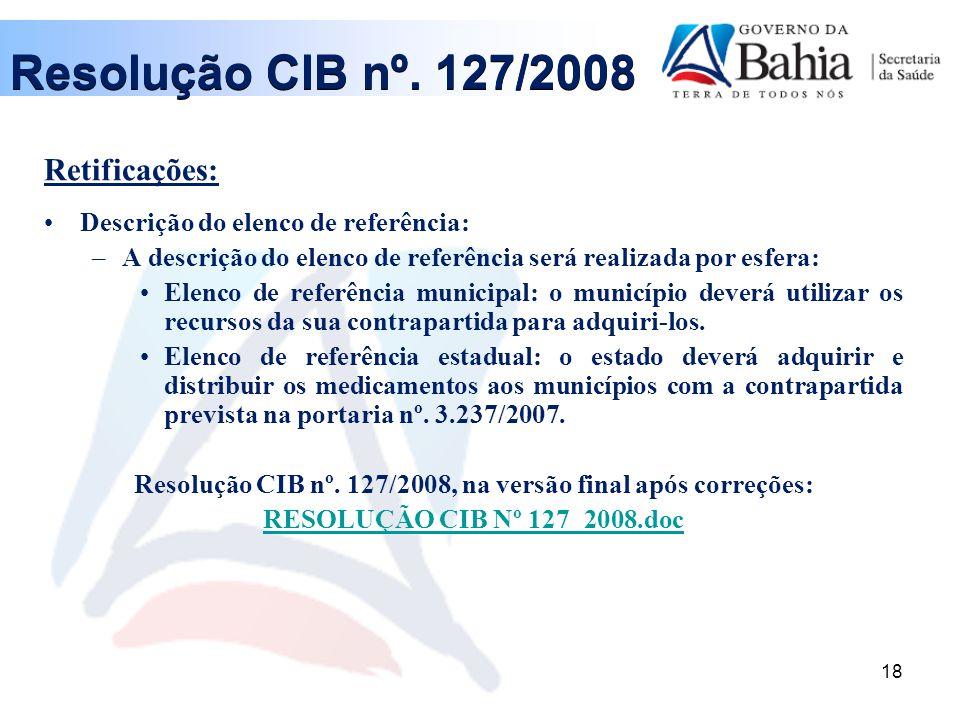 18 Resolução CIB nº.