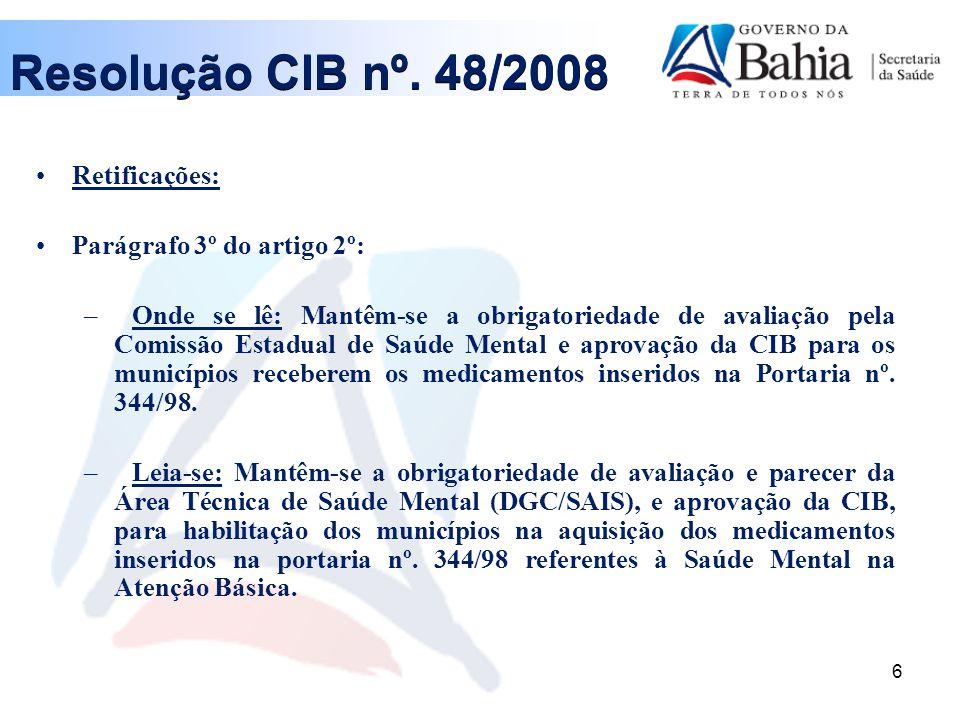 7 Resolução CIB nº.