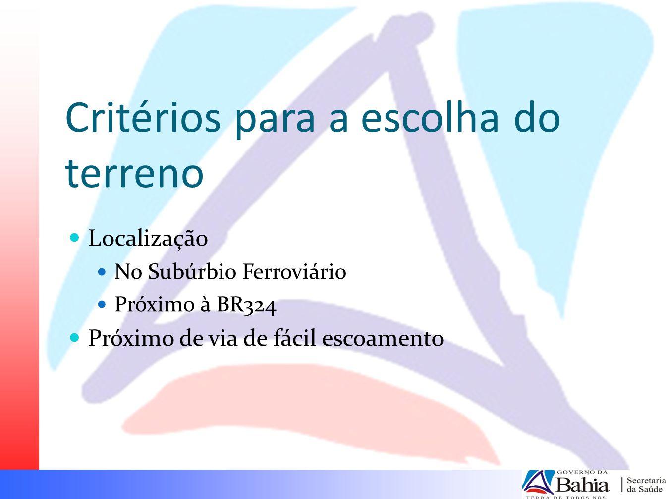 Investimento Inicial Estimado Hospital do Subúrbio Prazo de conclusão: junho/julho 2010 Valor da obra: ~48.000.000 Construtora: MRM Estágio da construção: 40%