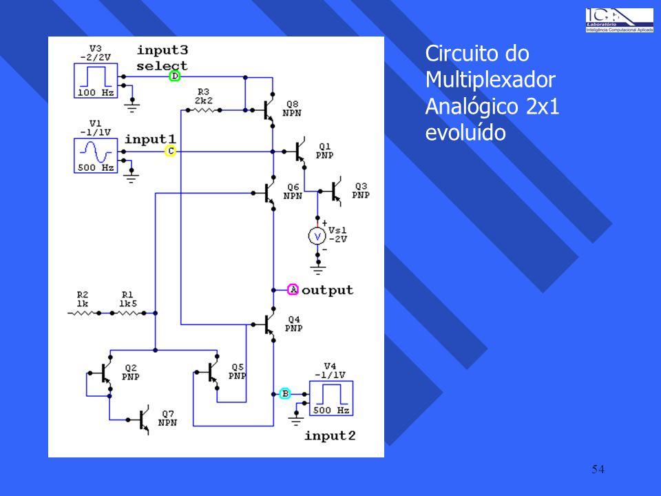 54 Circuito do Multiplexador Analógico 2x1 evoluído