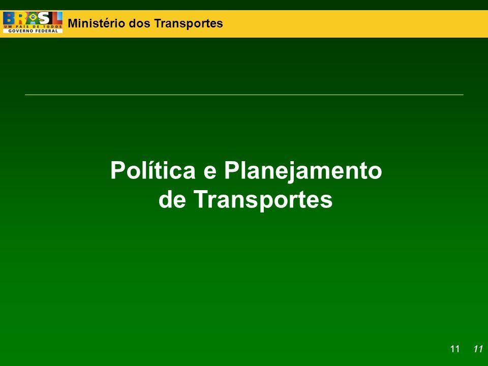 Ministério dos Transportes 11 Política e Planejamento de Transportes 11