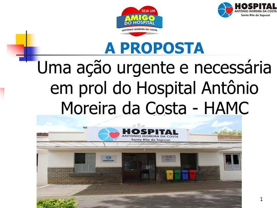 1 A PROPOSTA Uma ação urgente e necessária em prol do Hospital Antônio Moreira da Costa - HAMC