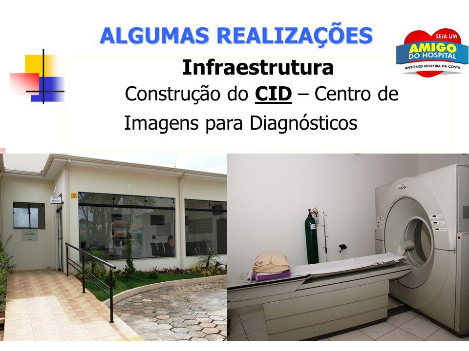 11 ALGUMAS REALIZAÇÕES Infraestrutura Construção do CID – Centro de Imagens para Diagnósticos