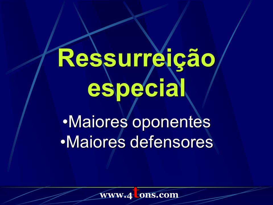 Ressurreição especial Maiores oponentesMaiores oponentes Maiores defensoresMaiores defensores