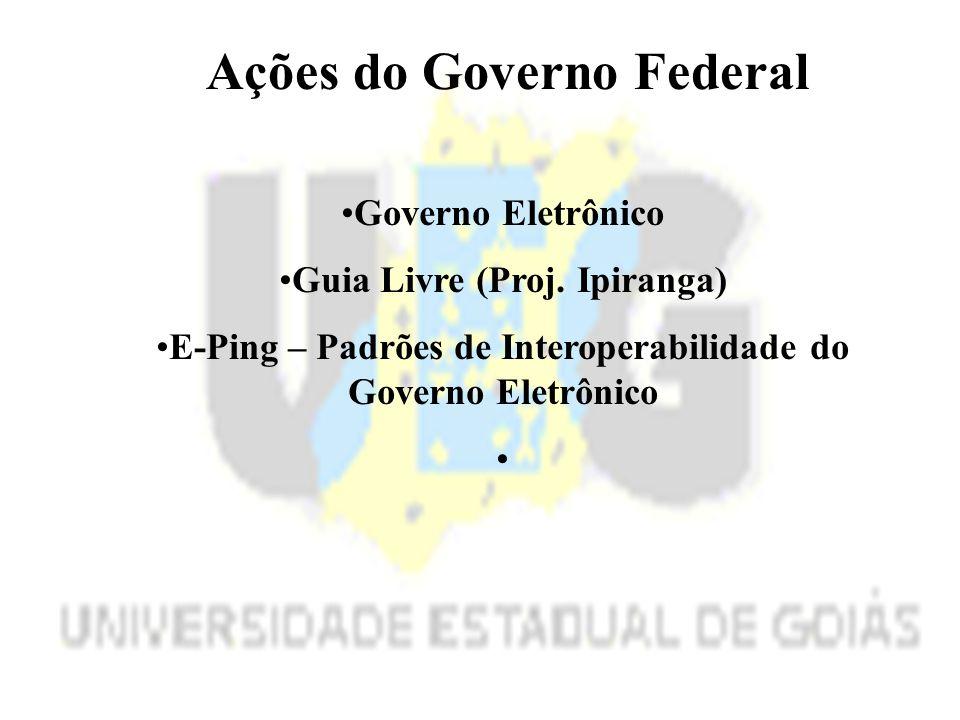 Ações do Governo Federal Governo Eletrônico Guia Livre (Proj.
