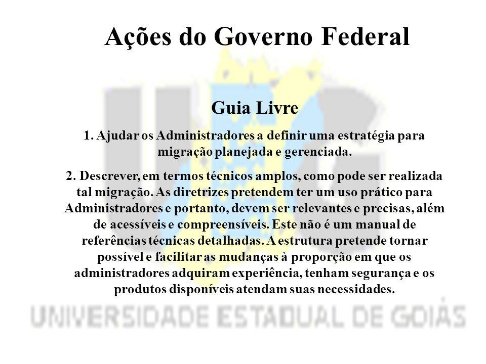 Ações do Governo Federal Guia Livre 1.