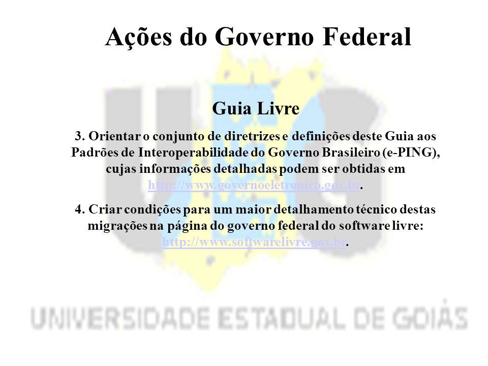 Ações do Governo Federal Guia Livre 3.