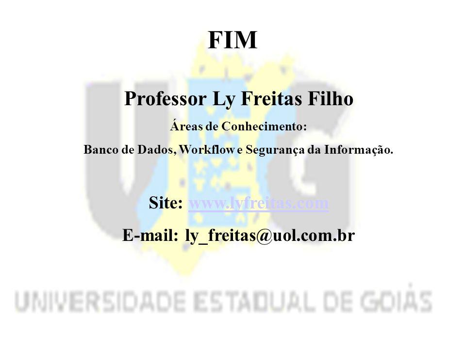 Professor Ly Freitas Filho Áreas de Conhecimento: Banco de Dados, Workflow e Segurança da Informação.