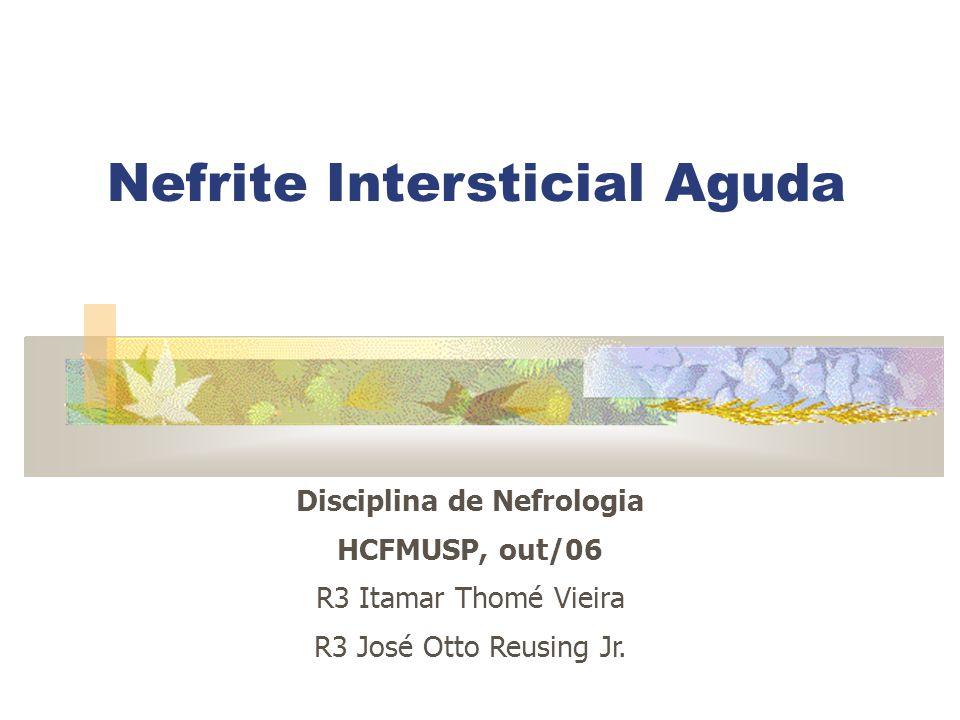 Disciplina de Nefrologia HCFMUSP, out/06 R3 Itamar Thomé Vieira R3 José Otto Reusing Jr. Nefrite Intersticial Aguda