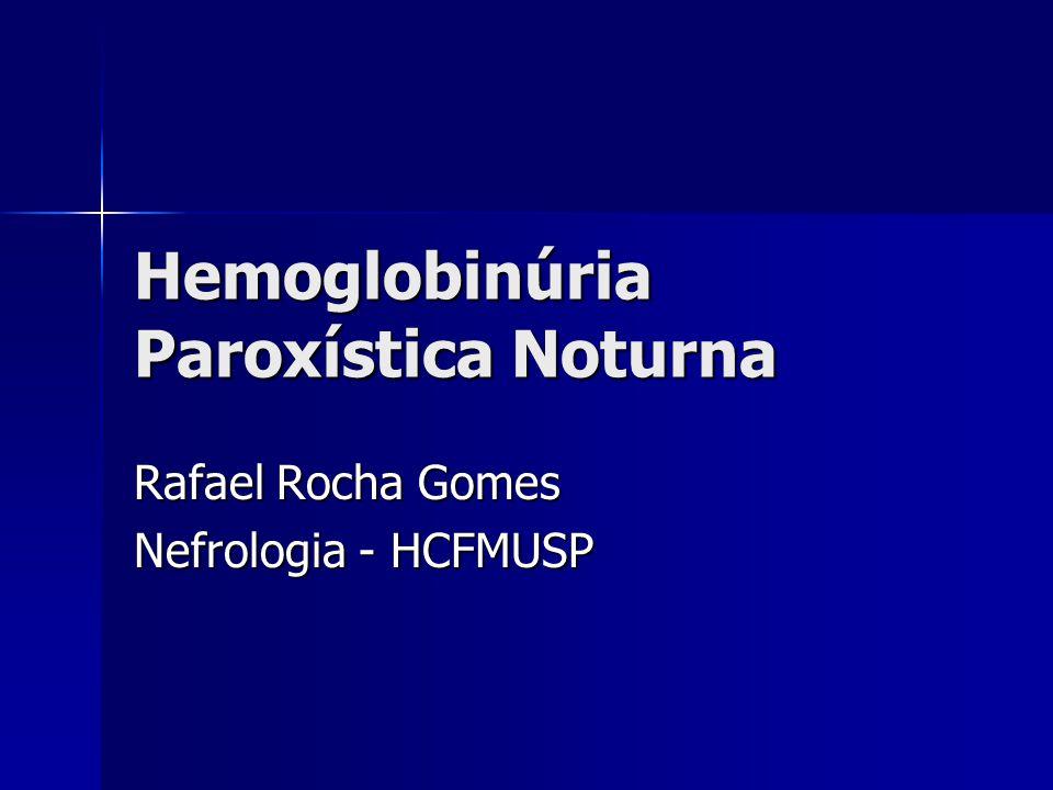 Hemoglobinúria Paroxística Noturna Rafael Rocha Gomes Nefrologia - HCFMUSP