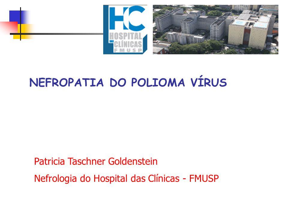 NEFROPATIA DO POLIOMA VÍRUS Patricia Taschner Goldenstein Nefrologia do Hospital das Clínicas - FMUSP