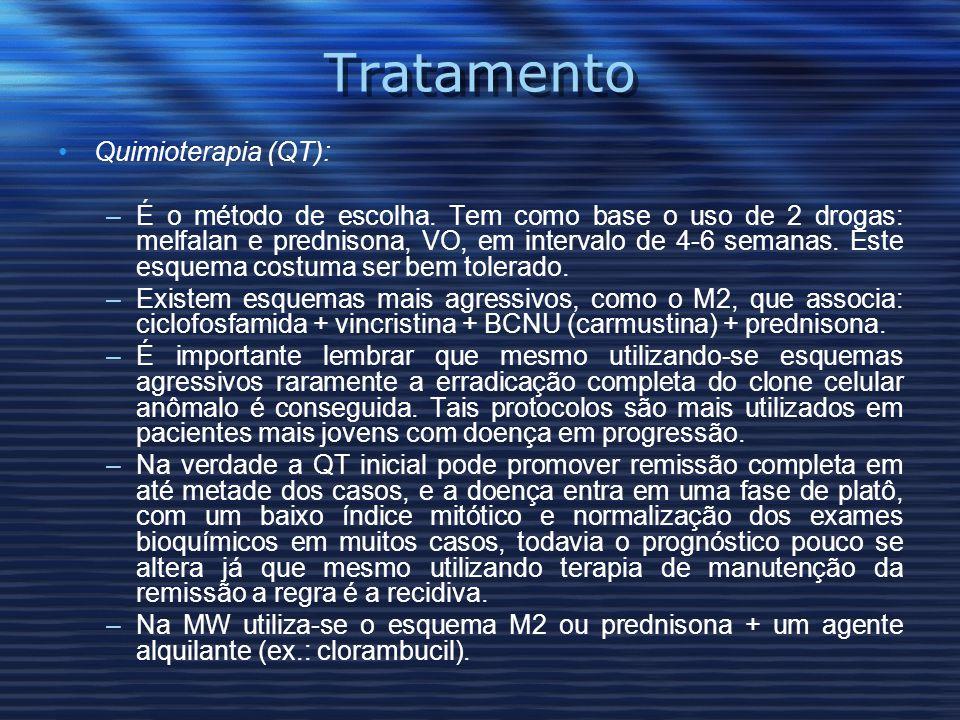 Tratamento Quimioterapia (QT): –É o método de escolha.