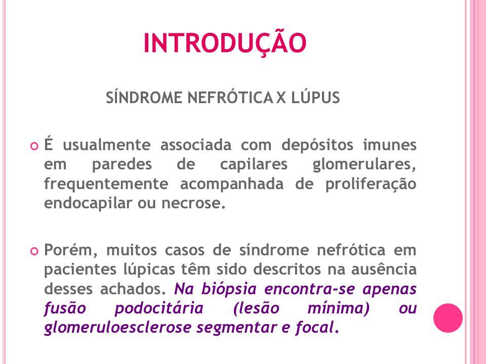 Série de pacientes com depósitos subepiteliais ou intramembranoso esparsos (2 ou menos por alça de capilar glomerular) e depósitos mesangiais imunes.