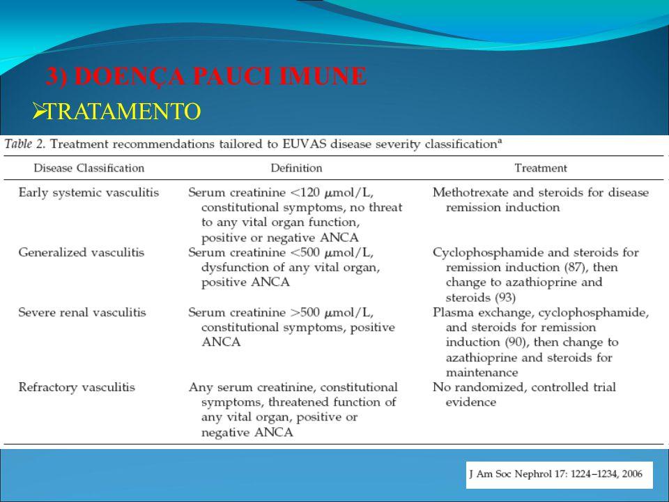 4) DOENÇA DO DUPLO ANTICORPO POSITIVO (ANTI- GBM E ANCA) Alguns pacientes com glomerulonefrite crescêntica apresentam expressão concomitante de mais de um fenótipo imunopatológico..