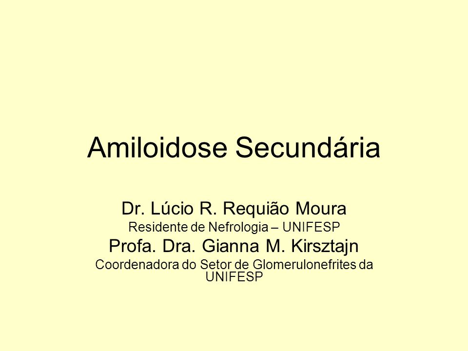 Amiloidose: depósito extracelular de fibrilas compostas de subunidades (de baixo peso) de grande variedade de proteínas séricas.