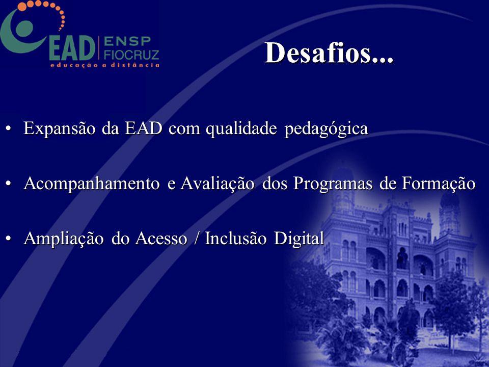 Expansão da EAD com qualidade pedagógicaExpansão da EAD com qualidade pedagógica Acompanhamento e Avaliação dos Programas de FormaçãoAcompanhamento e
