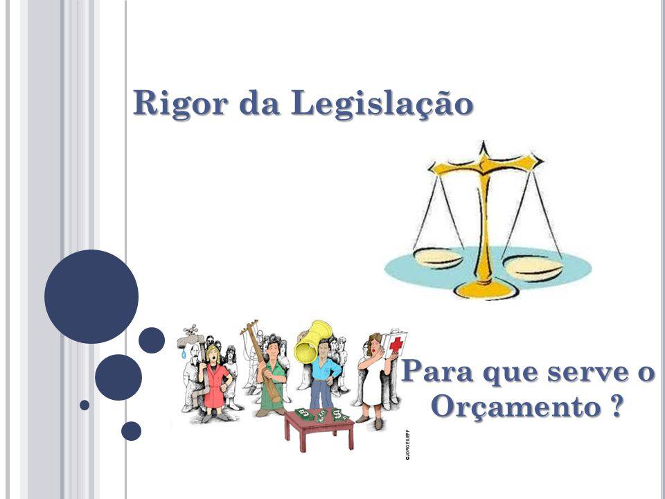 Rigor da Legislação Para que serve o Orçamento