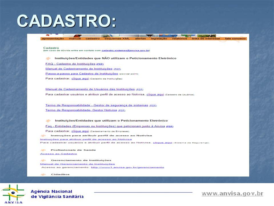 CADASTRO: