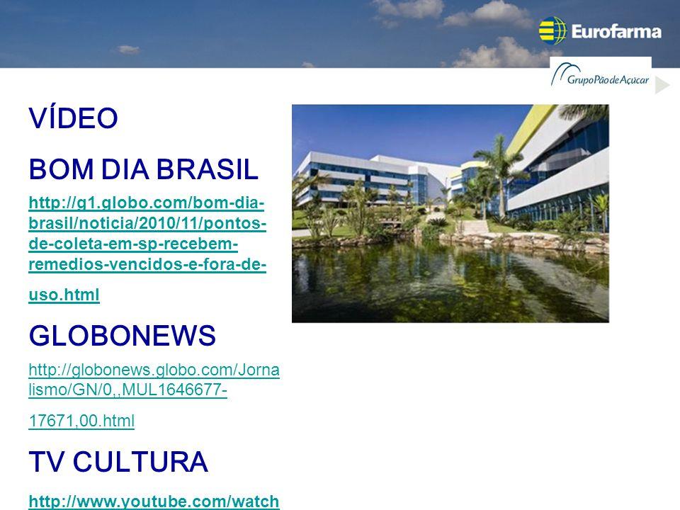 VÍDEO BOM DIA BRASIL http://g1.globo.com/bom-dia- brasil/noticia/2010/11/pontos- de-coleta-em-sp-recebem- remedios-vencidos-e-fora-de- uso.html GLOBON