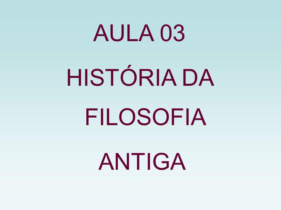 AULA 03 HISTÓRIA DA FILOSOFIA ANTIGA
