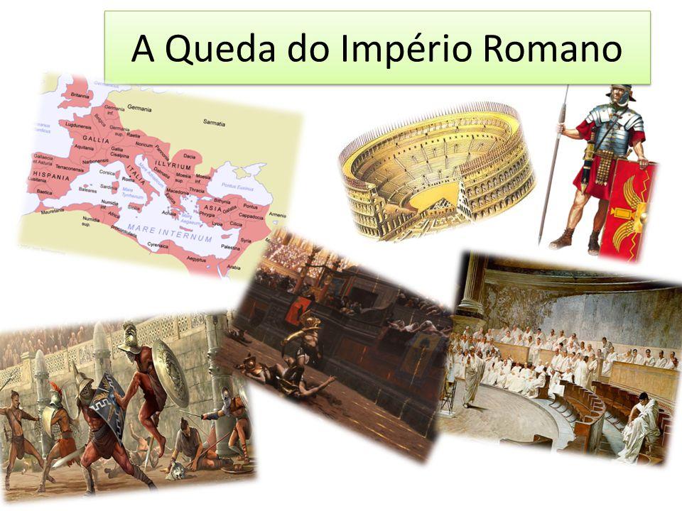 No século IV d.C., Roma foi invadida e destruída por tribos bárbaras.
