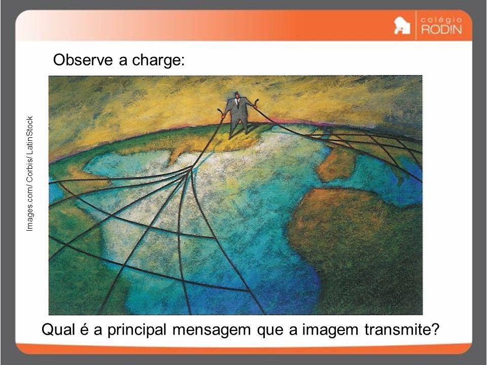 Observe a charge: Qual é a principal mensagem que a imagem transmite.