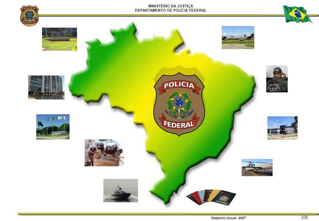 MINISTÉRIO DA JUSTIÇA DEPARTAMENTO DE POLÍCIA FEDERAL Relatório Anual - 2007 236
