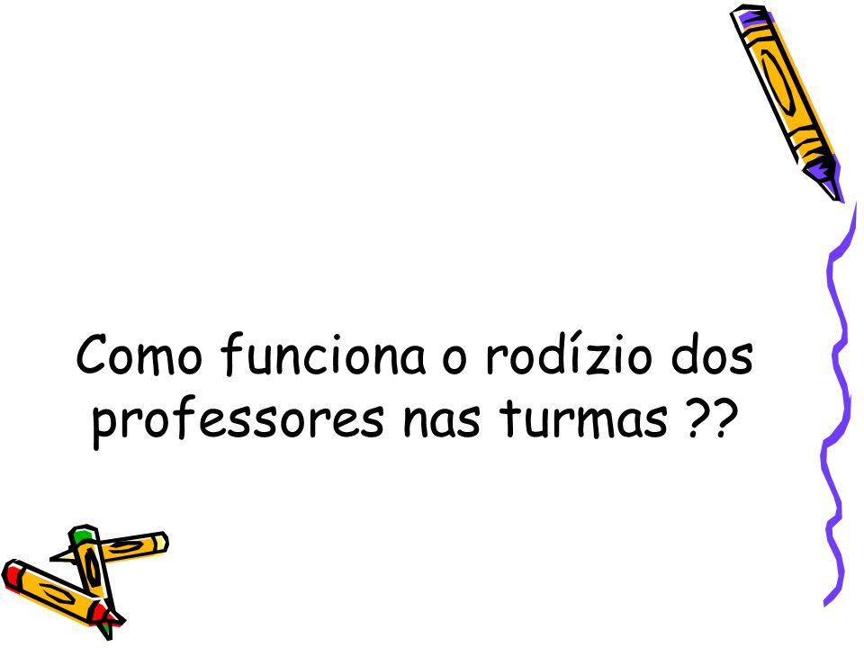 Como funciona o rodízio dos professores nas turmas ??