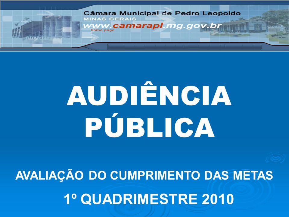 AUDIÊNCIA PÚBLICA AVALIAÇÃO DO CUMPRIMENTO DAS METAS 1º QUADRIMESTRE 2010