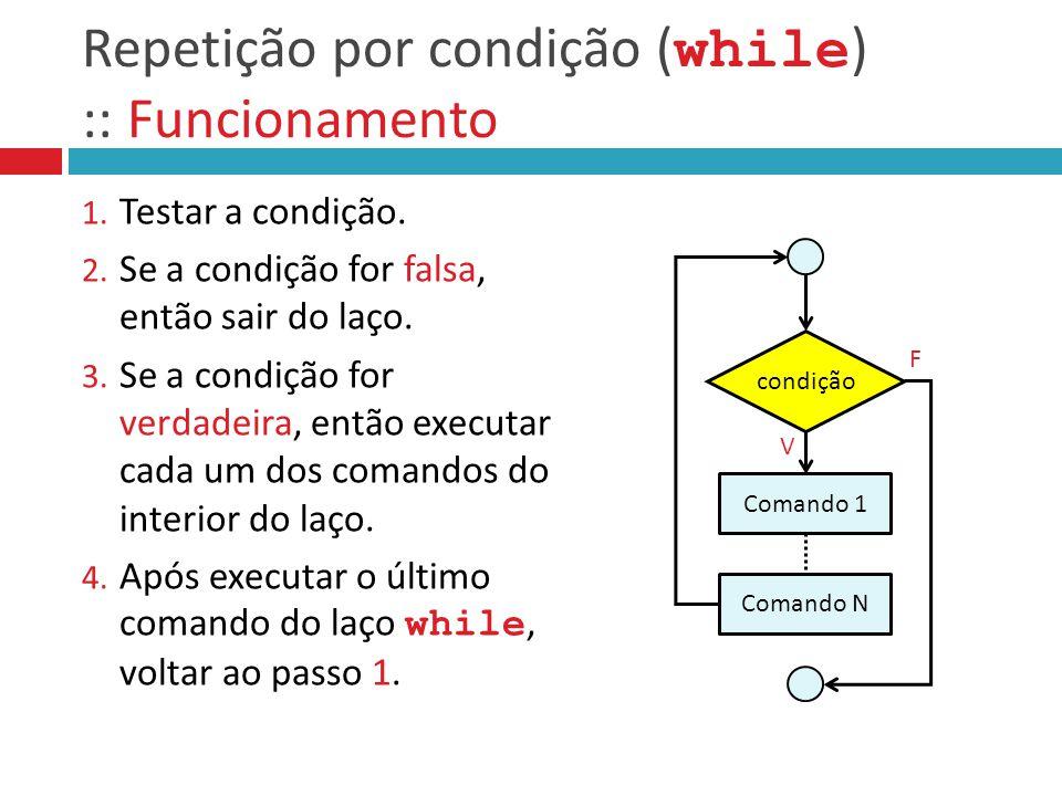 Repetição por condição ( while ) :: Funcionamento 1.