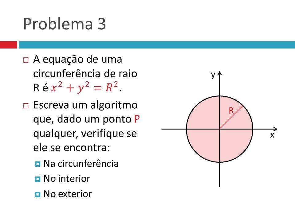 Problema 3 y x R