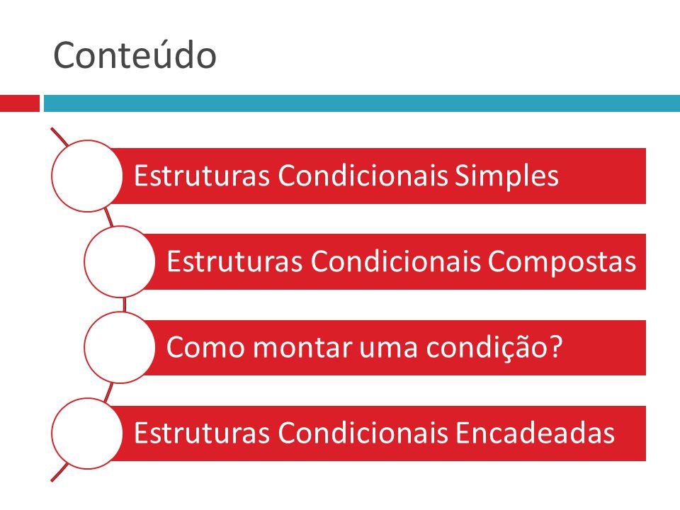 Estruturas Condicionais Compostas :: Em Python if (delta < 0): print( Nao tem raiz real ) else: print( Tem raiz real ) if (delta < 0): print( Nao tem raiz real ) else: print( Tem raiz real ) if e else sempre terminam com sinal de dois pontos Comandos internos ao if e ao else devem ser recuados início a, b, c fim delta < 0 F Não tem raízes reais V delta ← b**2 – 4*a*c Tem raiz real a = float(input( Digite a: )) b = float(input( Digite b: )) c = float(input( Digite c: )) a = float(input( Digite a: )) b = float(input( Digite b: )) c = float(input( Digite c: )) delta = b**2 – 4 * a * c