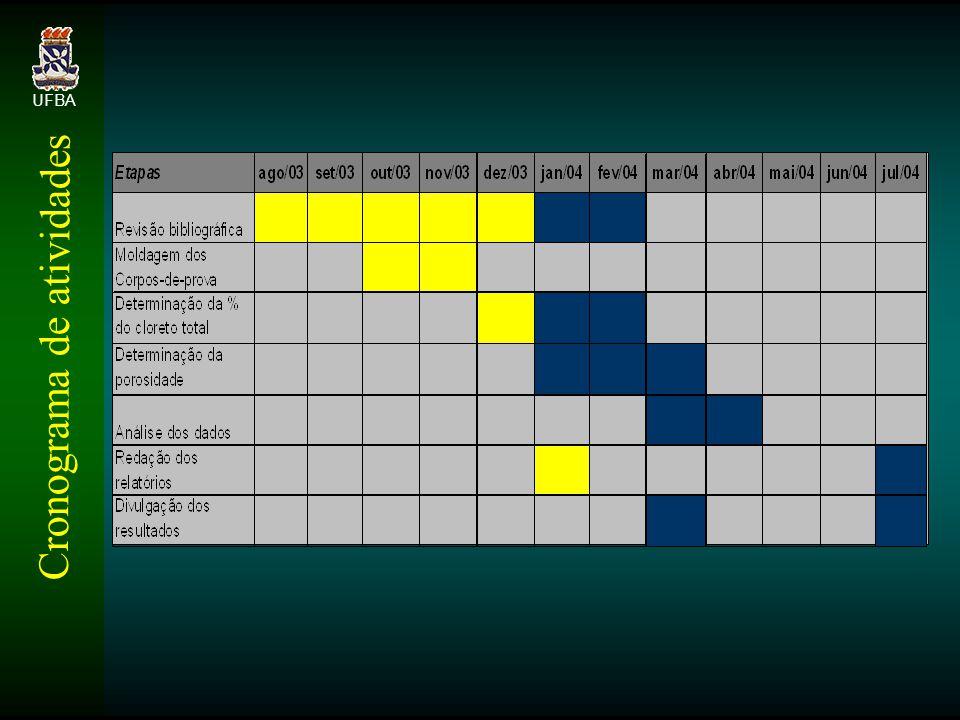 Cronograma de atividades UFBA