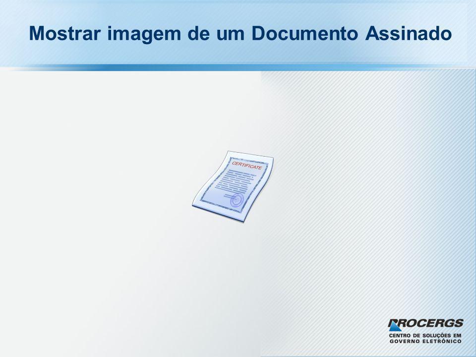 Mostrar imagem de um Documento Assinado