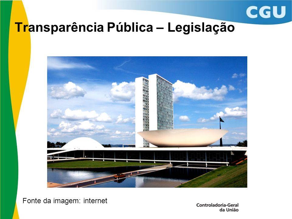 Transparência Pública – Legislação Fonte da imagem: internet